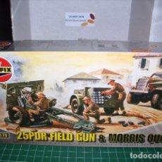 Maquetas: AIRFIX 1/76 25PDR FIELD GUN & MORRIS QUAD. Lote 182763542