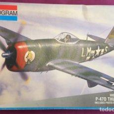 Maquetas: P-47D THUNDERBOLT 1:48 MONOGRAM 5487 MAQUETA AVIÓN. Lote 183432238