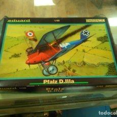 Maquetas: EDUARD PROFIPACK PFALZ D.IIILA MODEL PLANE KIT #8045 1/48 GERMAN FIGHTER. Lote 197982086