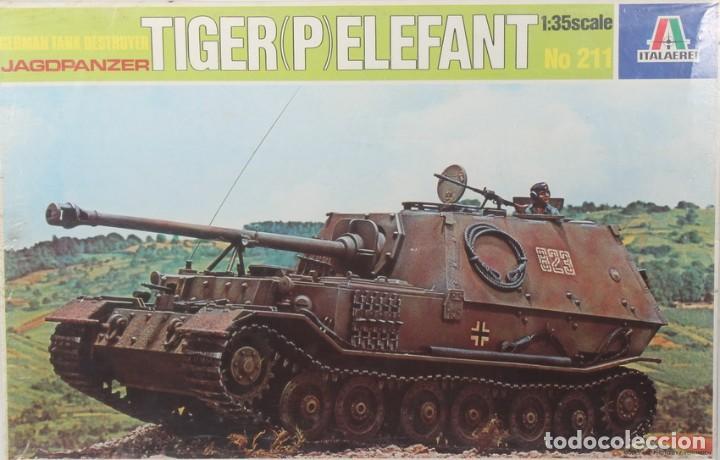 MAQUETA CAZACARROS TIGER P - ELEFANT, REF. 211, 1/35, ITALERI. (Juguetes - Modelismo y Radiocontrol - Maquetas - Militar)