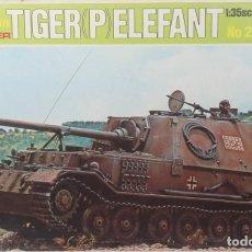 Maquetas: MAQUETA CAZACARROS TIGER P - ELEFANT, REF. 211, 1/35, ITALERI.. Lote 183575712