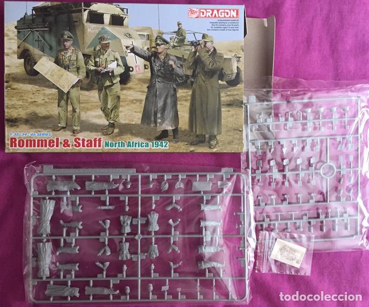Maquetas: Rommel & Staff North Africa 1942 1:35 DRAGÓN 6723 maqueta figuras diorama carro - Foto 3 - 183598088