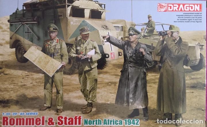 ROMMEL & STAFF NORTH AFRICA 1942 1:35 DRAGÓN 6723 MAQUETA FIGURAS DIORAMA CARRO (Juguetes - Modelismo y Radiocontrol - Maquetas - Militar)