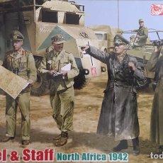 Maquetas: ROMMEL & STAFF NORTH AFRICA 1942 1:35 DRAGÓN 6723 MAQUETA FIGURAS DIORAMA CARRO. Lote 183598088