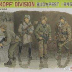 Maquetas: TOTENKOPF DIVISION BUDAPEST 1945. DRAGON 1/35. PREMIUM EDITION. Lote 183715840