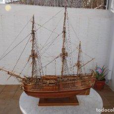 Maquetas: MAQUETA DE BARCO INGLES POSIBLEMENTE DEL ENDEAVOUR LEER DESCRIPCIÓN. Lote 183832158