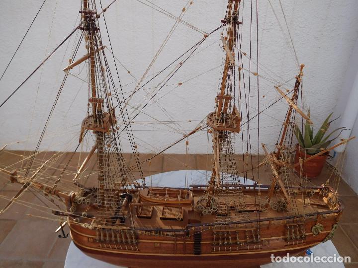 Maquetas: Maqueta de barco ingles posiblemente del Endeavour leer descripción - Foto 3 - 183832158
