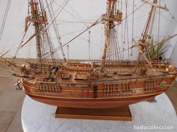 Maquetas: Maqueta de barco ingles posiblemente del Endeavour leer descripción - Foto 4 - 183832158