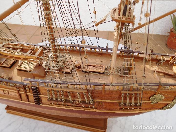 Maquetas: Maqueta de barco ingles posiblemente del Endeavour leer descripción - Foto 5 - 183832158