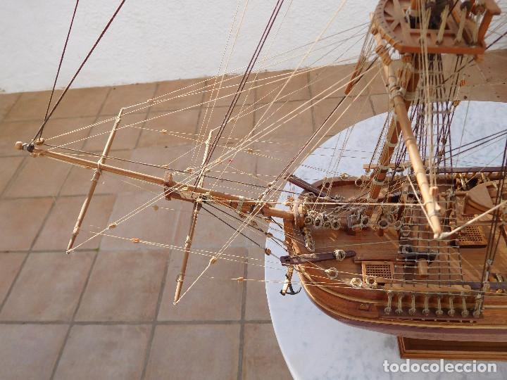 Maquetas: Maqueta de barco ingles posiblemente del Endeavour leer descripción - Foto 7 - 183832158