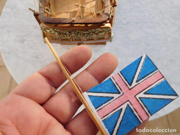 Maquetas: Maqueta de barco ingles posiblemente del Endeavour leer descripción - Foto 11 - 183832158