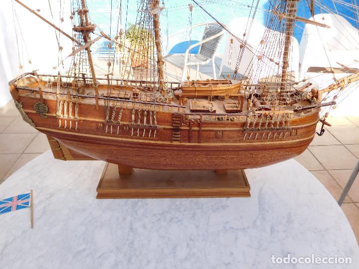 Maquetas: Maqueta de barco ingles posiblemente del Endeavour leer descripción - Foto 12 - 183832158