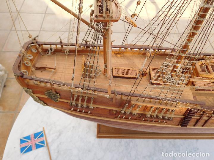 Maquetas: Maqueta de barco ingles posiblemente del Endeavour leer descripción - Foto 14 - 183832158
