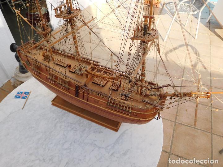 Maquetas: Maqueta de barco ingles posiblemente del Endeavour leer descripción - Foto 16 - 183832158