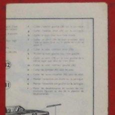 Maquetas: INSTRUCCIONES DE MONTAJE DEL FOUGA MAGISTER DE HELLER ESCALA 1/72. Lote 183900623