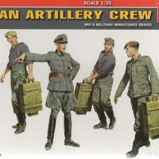 Maquetas: GERMAN ARTILLERY CREW. SPECIAL EDITION. MINIART. 1/35, REF. 35192. Lote 183976745