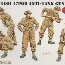 Maquetas: BRITISH 17 PDR. ANTI-TANK GUN CREW SET. BRONCO MODELS. 1/35. Lote 184035861