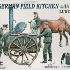 Maquetas: GERMAN FIELD KITCHE WITH SOLDIERS. RIICH MODELS. 1/35. Lote 184036833