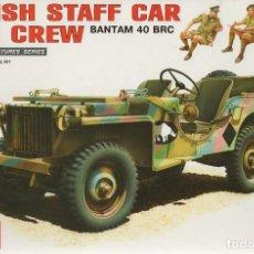 Maquetas: BRITISH STAFF CAR W/ CREW. MINIART. 1/35. REF. 35050. Lote 184354338