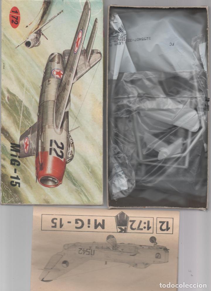 MIKOYAN GUREVICH MIG 15 ESC.1/72 CHECOESLOVAQUIA.DA (Juguetes - Modelismo y Radio Control - Maquetas - Aviones y Helicópteros)