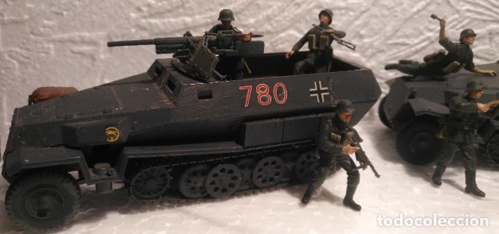 Maquetas: Lote vehículos y soldados alemanes 1/35 montados y pintados con detalles - Foto 2 - 186025903