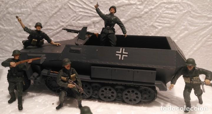 Maquetas: Lote vehículos y soldados alemanes 1/35 montados y pintados con detalles - Foto 4 - 186025903