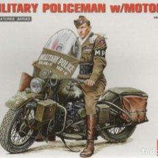 Maquetas: U.S. MILITARY POLICEMAN W/MOTORCYCLE. MINIART. 1/35. REF. 35168. Lote 186070612