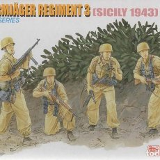 Maquetas: FALLSCHIRMJAGER REGIMENT 3. SICILY 1943. DRAGON. 1/35. REF. 6195. Lote 233269170
