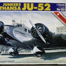 Maquetas: MAQUETA ITALERI JUNKERS JU-52 LUFTHANSA ESCALA 1/72. Lote 186221757