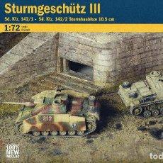 Maquetas: ITALERI 1/72 WWII GERMAN STURMGESCHUTZ III (2 FAST ASSEMBLY MODELS). Lote 187333786
