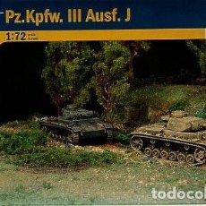 Maquetas: 7507 ITALERI 1/72 WWII GERMAN PZ.KPFW.III AUSF.J (2 FAST ASSEMBLY MODELS). Lote 187347766