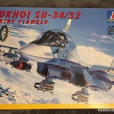 """Maquetas: SUKHOI SU-34 / 32 STRIKE FLANKER """"FULLBACK"""" 1:72 ITALERI 059 MAQUETA AVIÓN. Lote 187368962"""