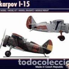 Maquetas: PAVLA - POLIKARPOV I-15 1/72 72047. Lote 187616233