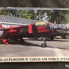 Maquetas: MIG-23 FLOGGER B (CZECH AIR FORCE SPECIAL) 1:72 HASEGAWA 00892 MAQUETA AVIÓN. Lote 187645568
