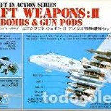 Maquetas: HASEGAWA - AIRCRAFT WEAPONS II U.S. GUIDED BOMBS & GUN PODS 1/72 X72 2. Lote 188441722