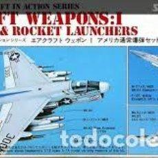 Maquetas: HASEGAWA - AIRCRAFT WEAPONS I U.S BOMBS & ROCKET LAUNCHERS 1/72 X72 1. Lote 188441761