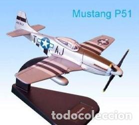 LOTE AVION NUEVO DE METAL DE COLECCION FABBRI - ITALERI - P 51 MUSTANG WWII USA - ESCAL 1/100 (Juguetes - Modelismo y Radio Control - Maquetas - Aviones y Helicópteros)