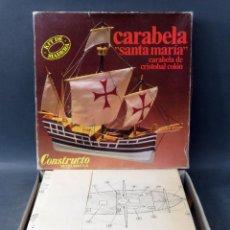 Maquetas: CARABELA SANTA MARÍA CRISTÓBAL COLÓN CONSTRUCTO MODELMAR SA INSTRUCCIONES AÑOS 70 CASI COMPLETO. Lote 189098010