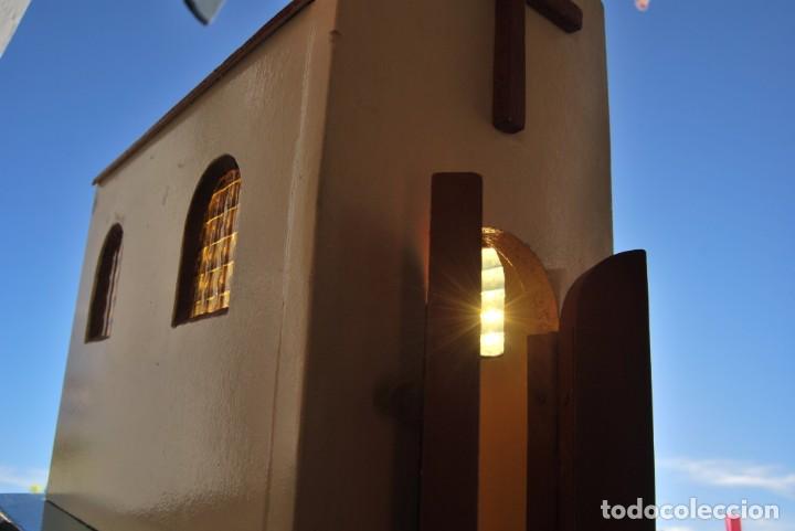 Maquetas: PRECIOSA IGLESIA DE MADERA - MAQUETA - VENTANAS DE CRISTAL - GRAN TAMAÑO - AÑOS 70 - Foto 13 - 189193968