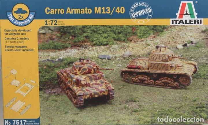 MAQUETA CARRO CARRO ARMATO M13/40, REF. 7517, 1/72, ITALERI (Juguetes - Modelismo y Radiocontrol - Maquetas - Militar)