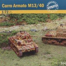 Maquetas: MAQUETA CARRO CARRO ARMATO M13/40, REF. 7517, 1/72, ITALERI. Lote 189300508