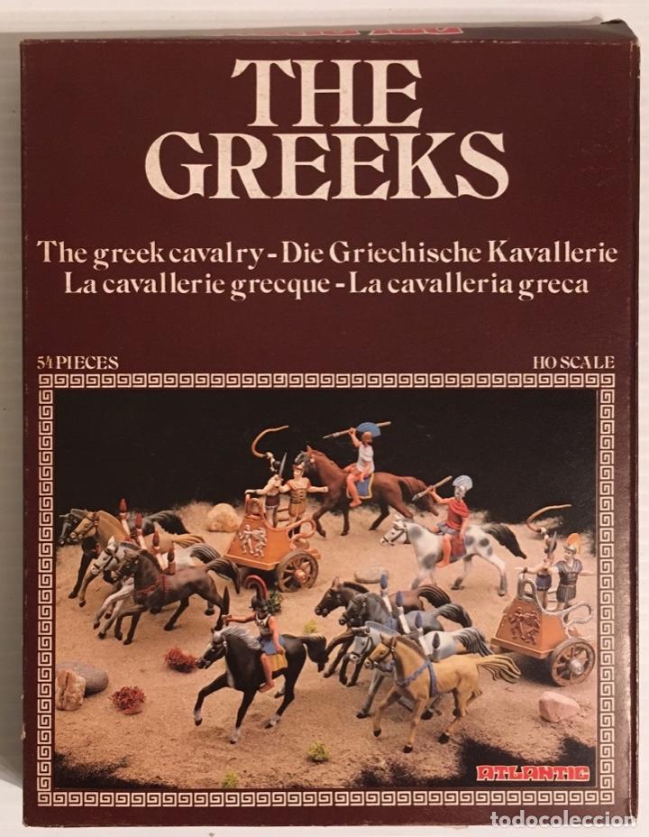 ATLANTIC. THE GREEKS. THE GREEK CAVALRY. H0. 1510. PINTADOS. (Juguetes - Modelismo y Radiocontrol - Maquetas - Militar)