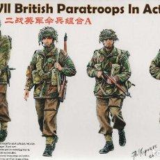 Maquetas: WWII BRITISH PARATROOPS IN ACTION SET A. BRONCO. 1/35. REF. CB35177. Lote 189738028