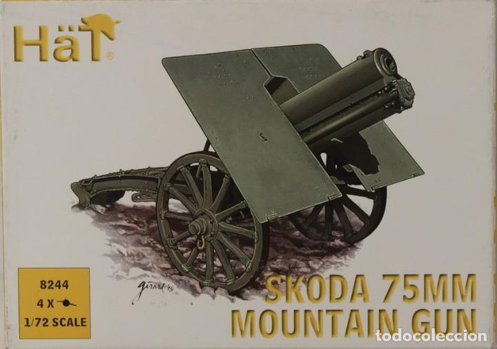 MAQUETA CAÑÓN SKODA 75 MOUNTAIN GUN, REF. 8244, 1/72, HAT (Juguetes - Modelismo y Radiocontrol - Maquetas - Militar)
