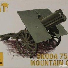 Maquetas: MAQUETA CAÑÓN SKODA 75 MOUNTAIN GUN, REF. 8244, 1/72, HAT. Lote 191743102
