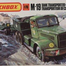 Maquetas: MAQUETA CAMIÓN M-19 TANK TRANSPORTER 45 TONS, REF. 40174, 1/76, MATCHBOX. Lote 191743555