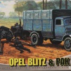 Maquetas: MAQUETA CAMIÓN OPEL BLITZ & CAÑÓN PAK 40, REF. A 02315, 1/76, AIRFIX. Lote 191743733