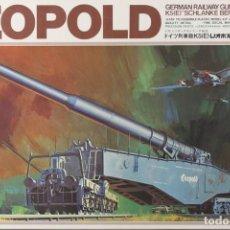 Maquetas: MAQUETA CAÑÓN LEOPOLD, GERMAN RAILWAY GUN K5-E, SCHLANKE BERTHA, REF. 31028, 1/72, HASEGAWA. Lote 191744127