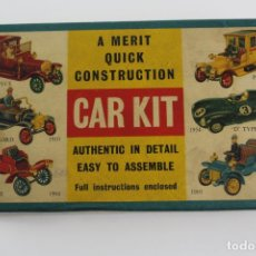 Maquetas: CAR KIT. A MERIT QUICK CONSTRUCTION. 1903 CADILLAC. J.L RANDALL. ENGLAND. AÑOS 60. . Lote 191775332