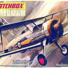 Maquetas: MAQUETA DEL CAZA BRITÁNICO GLOSTER GLADIATOR MK I DE MATCHBOX A 1/72 (CALCAS MAL, VINTAGE). Lote 191779632